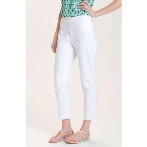 Kate Spade White Mandy Straight Leg Crop Trousers
